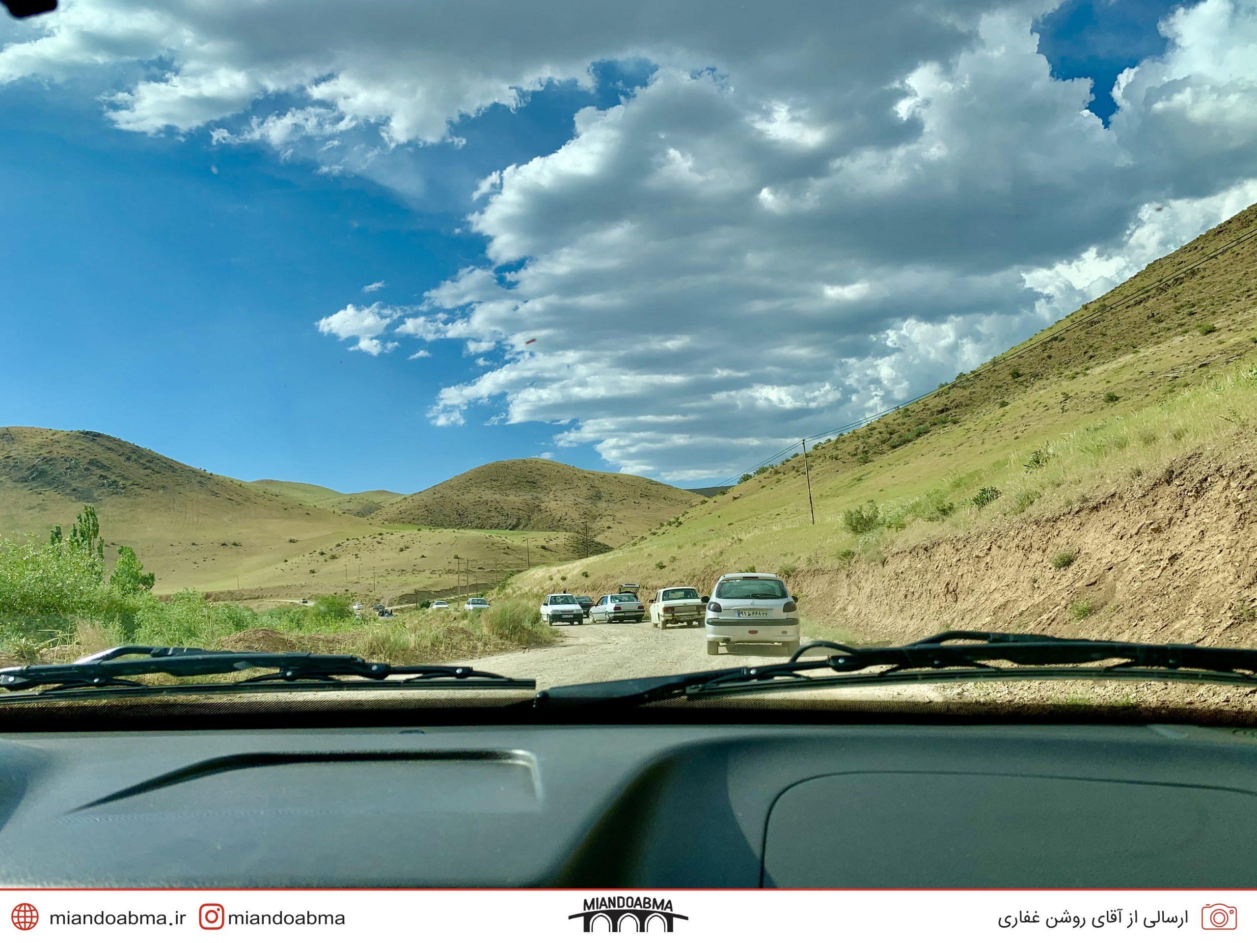 عکس ماشینی از طبیعت آذربایجان غربی
